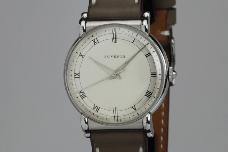 Juvenia Stainless Steel Calatrava Style Manual Wind Wristwatch 7