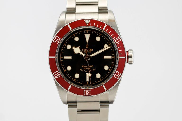 Tudor stainless steel heritage black bay dive submarine - Tudor dive watch price ...