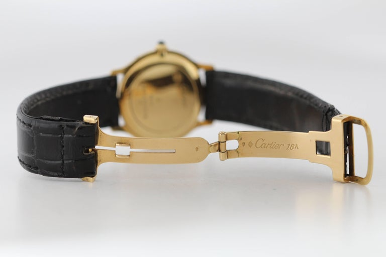 Cartier Yellow Gold Manual Wind Wristwatch, circa 1980s 2