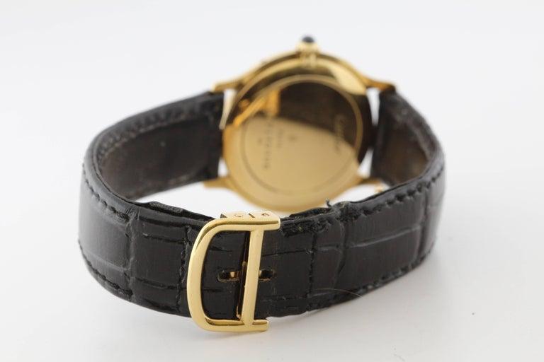 Cartier Yellow Gold Manual Wind Wristwatch, circa 1980s 3