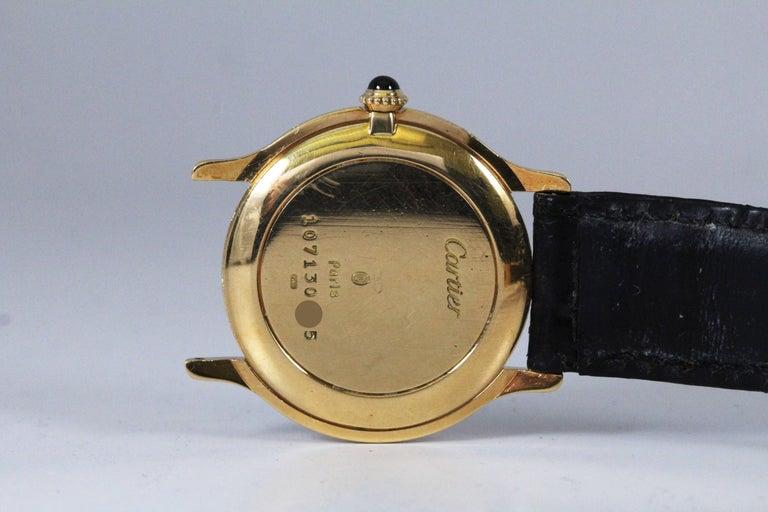 Cartier Yellow Gold Manual Wind Wristwatch, circa 1980s 4