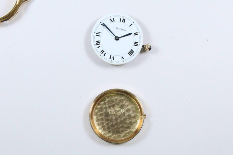 Cartier Yellow Gold Manual Wind Wristwatch, circa 1980s 6