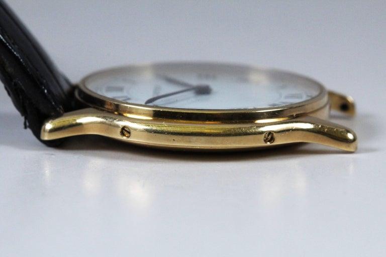 Cartier Yellow Gold Manual Wind Wristwatch, circa 1980s 10