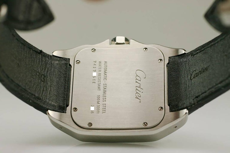 Cartier Stainless Steel Small Santos 100 deployant clasp automatic wristwatch  4
