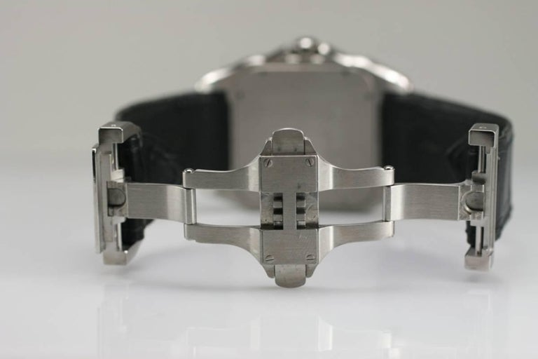 Cartier Stainless Steel Small Santos 100 deployant clasp automatic wristwatch  3