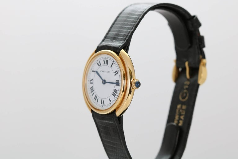 Cartier Yellow Gold Oval Automatic Wristwatch 2