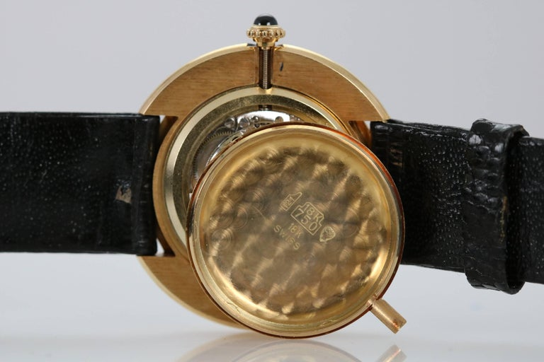 Cartier Yellow Gold Oval Automatic Wristwatch 3