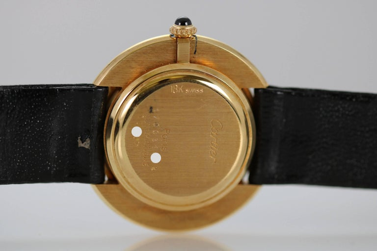 Cartier Yellow Gold Oval Automatic Wristwatch 7