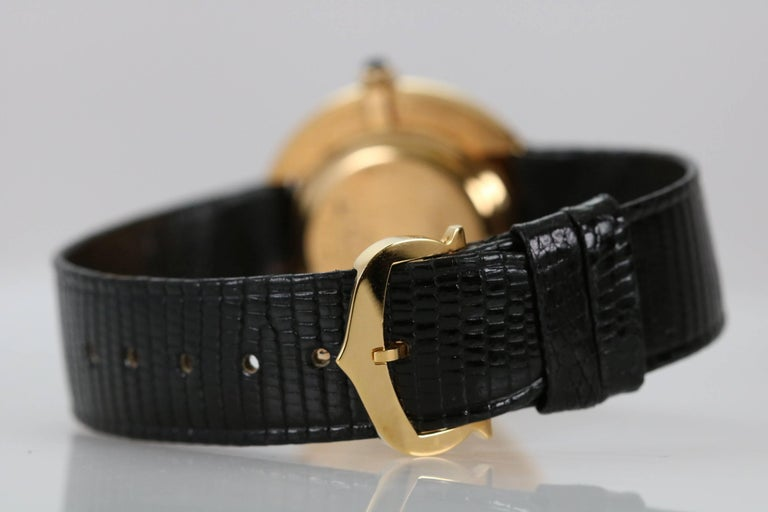 Cartier Yellow Gold Oval Automatic Wristwatch 9