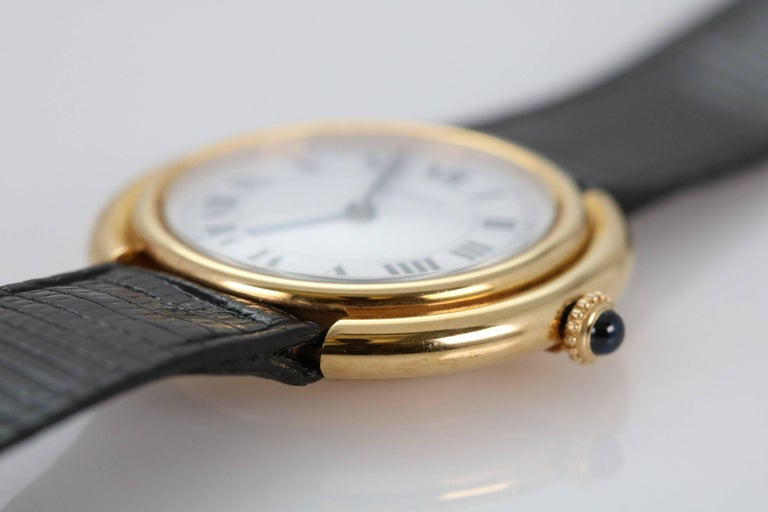 Cartier Yellow Gold Oval Automatic Wristwatch 10
