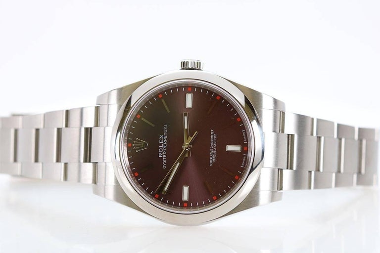 Rolex Stainless Steel Oyster Grape Dial Perpetual 39 Wristwatch Ref 114300 2