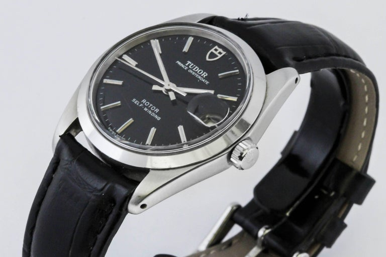 Tudor Prince Oyster Date reference 90500 in stainless steel with automatic movement on non-Tudor leather strap.