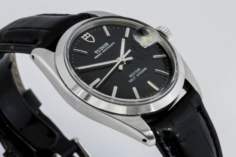 Tudor Stainless Steel Prince Oyster Date Automatic Wristwatch Ref 90500 In Good Condition For Sale In Miami Beach, FL
