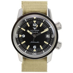 Wittnauer Geneve Stainless Steel Automatic Diver's Wristwatch Ref 8007