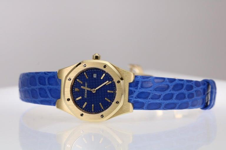 Audemars Piguet Ladies Yellow Gold Royal Oak Quartz Wristwatch For Sale 1