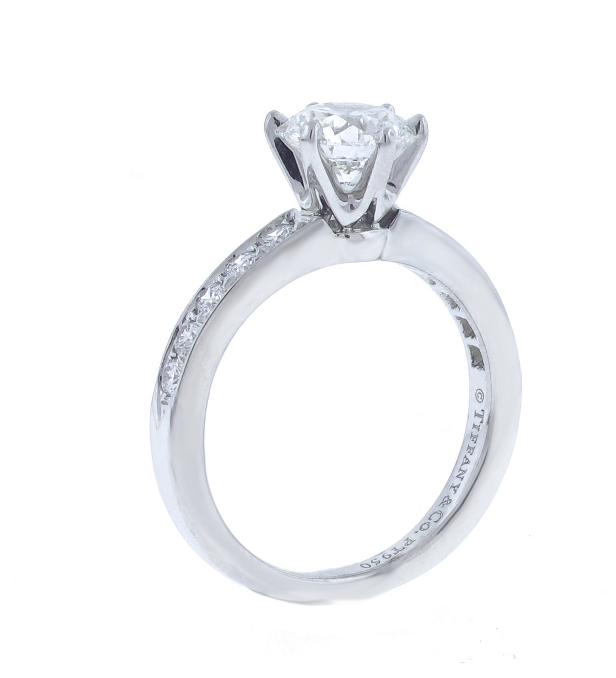 Tiffany and co carat diamond engagement ring at 1stdibs for Decoration fiancaille