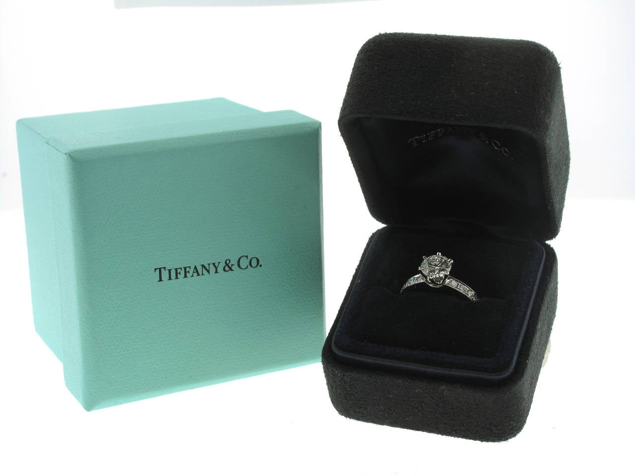 Tiffany and Co 109 Carat Diamond Engagement Ring at 1stdibs
