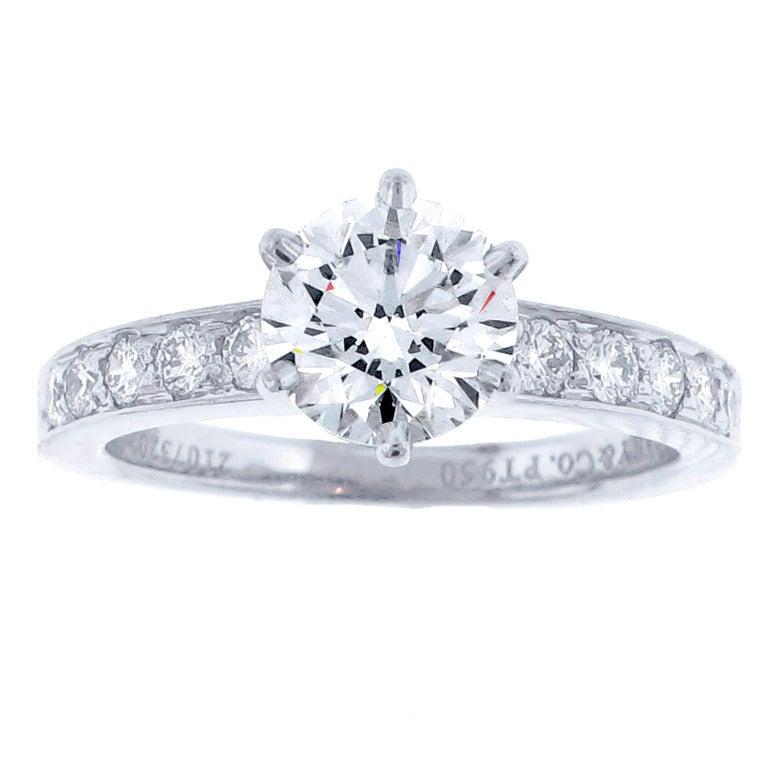 Tiffany and Co 109 Carat Diamond Engagement Ring at 1stdibs