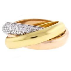 Cartier Trinity de Cartier Diamond Gold Ring