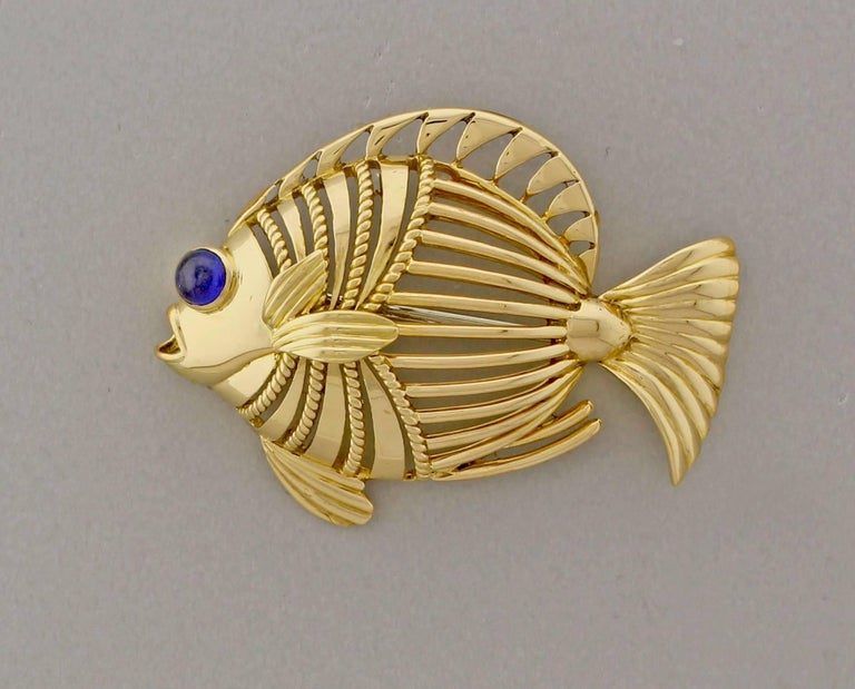Cartier London Open Design Fish Brooch 2