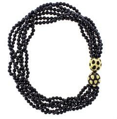 Tiffany & Co. Positive Negative Multi Strand Jade Necklace