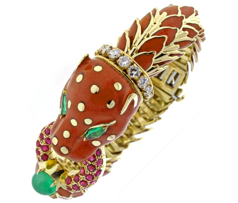 David Webb Animal Kingdom Enamel Serpent Bracelet 2