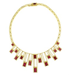 Burle Marx Rubellite Necklace