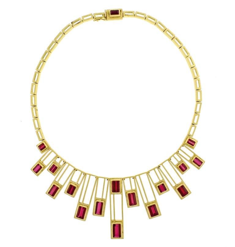 Burle Marx Rubellite Necklace