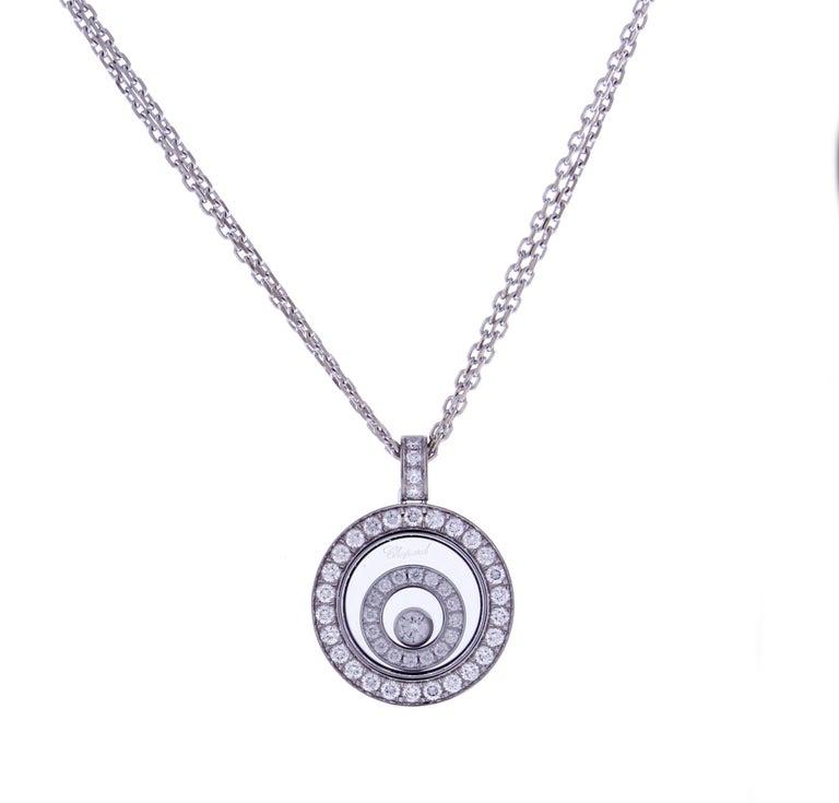 Chopard Happy Spirit Diamond Double Circle Pendant Necklace