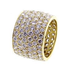 Van Cleef & Arpels Wide Pavé Diamond Band-Ring