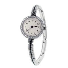 Dreicer Lady's Platinum and Diamond Bracelet Watch circa 1915
