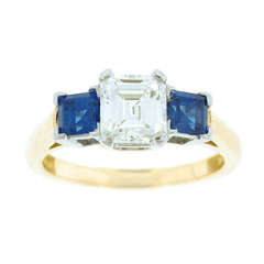 Tiffany & Co. Diamond and Sapphire Ring