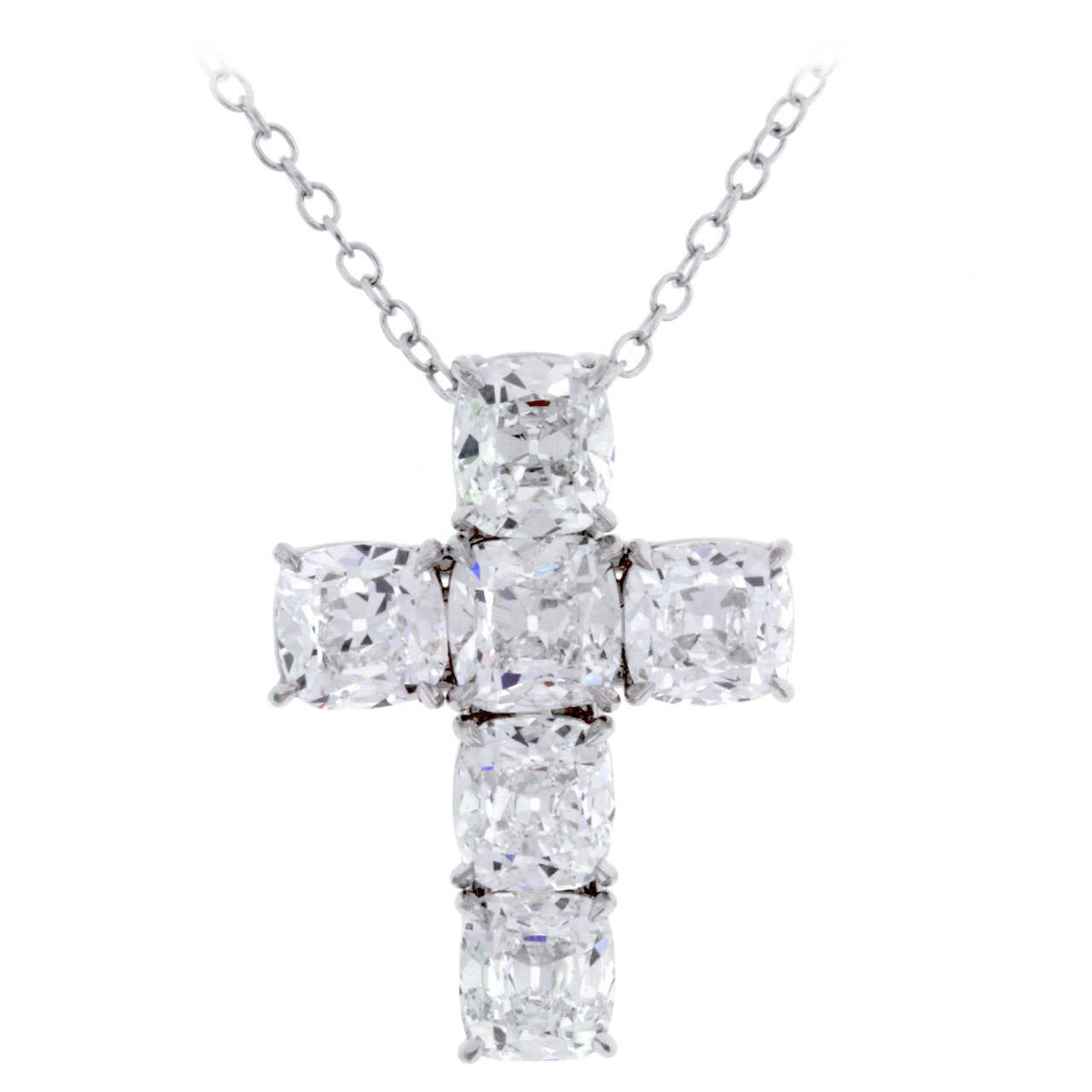 1f4b8d677 GIA Cert Diamond Cross Pendant by Ronald Abram at 1stdibs