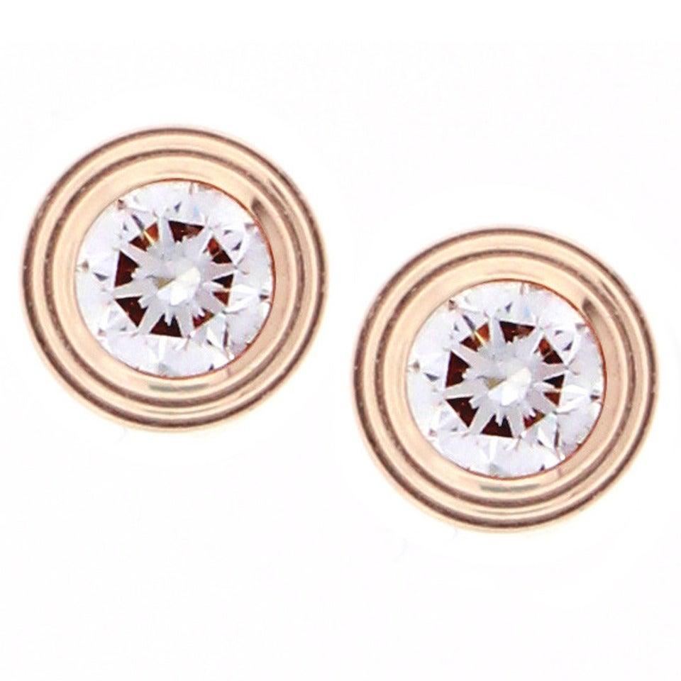 Cartier Diamants Legers Diamond Gold Stud Earrings 1
