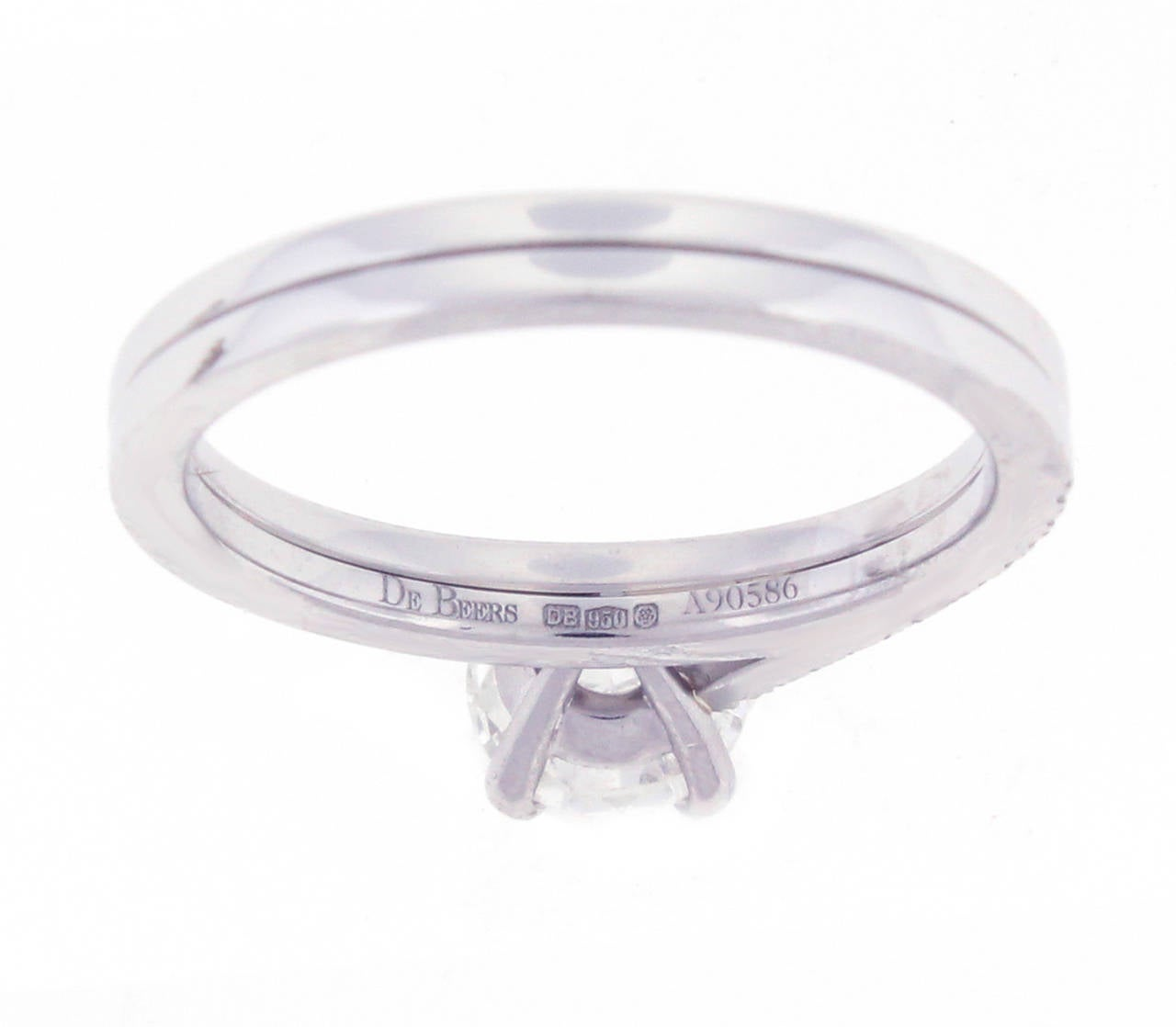 de beers platinum promise ring at 1stdibs