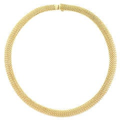 Tiffany & Co.Somerset Gold Mesh Necklace