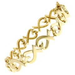 Tiffany & Co. Paloma Picasso Gold Loving Heart Bracelet