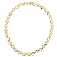 Tiffany & Co. Paloma Picasso Diamond Gold Loving Heart Necklace