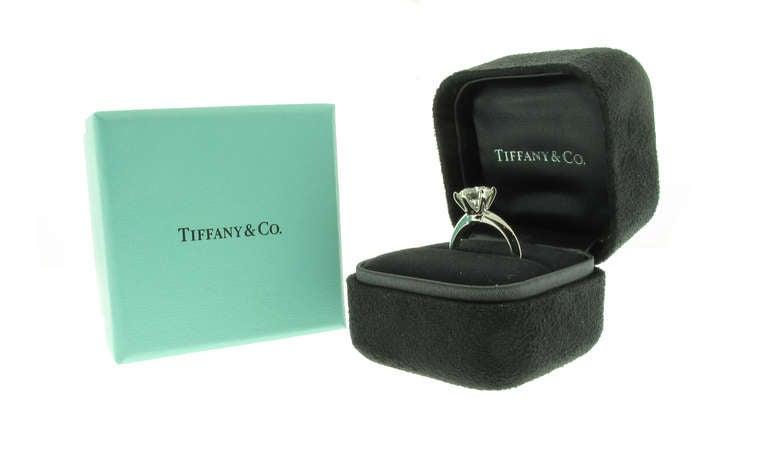 Tiffany & Co. 2.25ct  Diamond Platinum Solitaire Ring 3