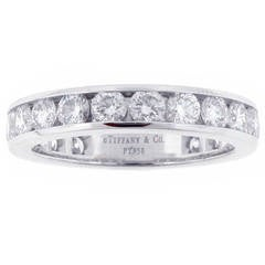 Tiffany & Co. Channel Set Diamond Platinum Band