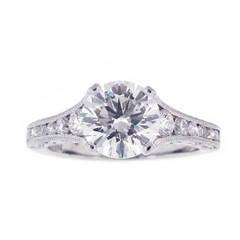 Tacori Reverse Crescent GIA Cert Diamond Platinum Engagement Ring