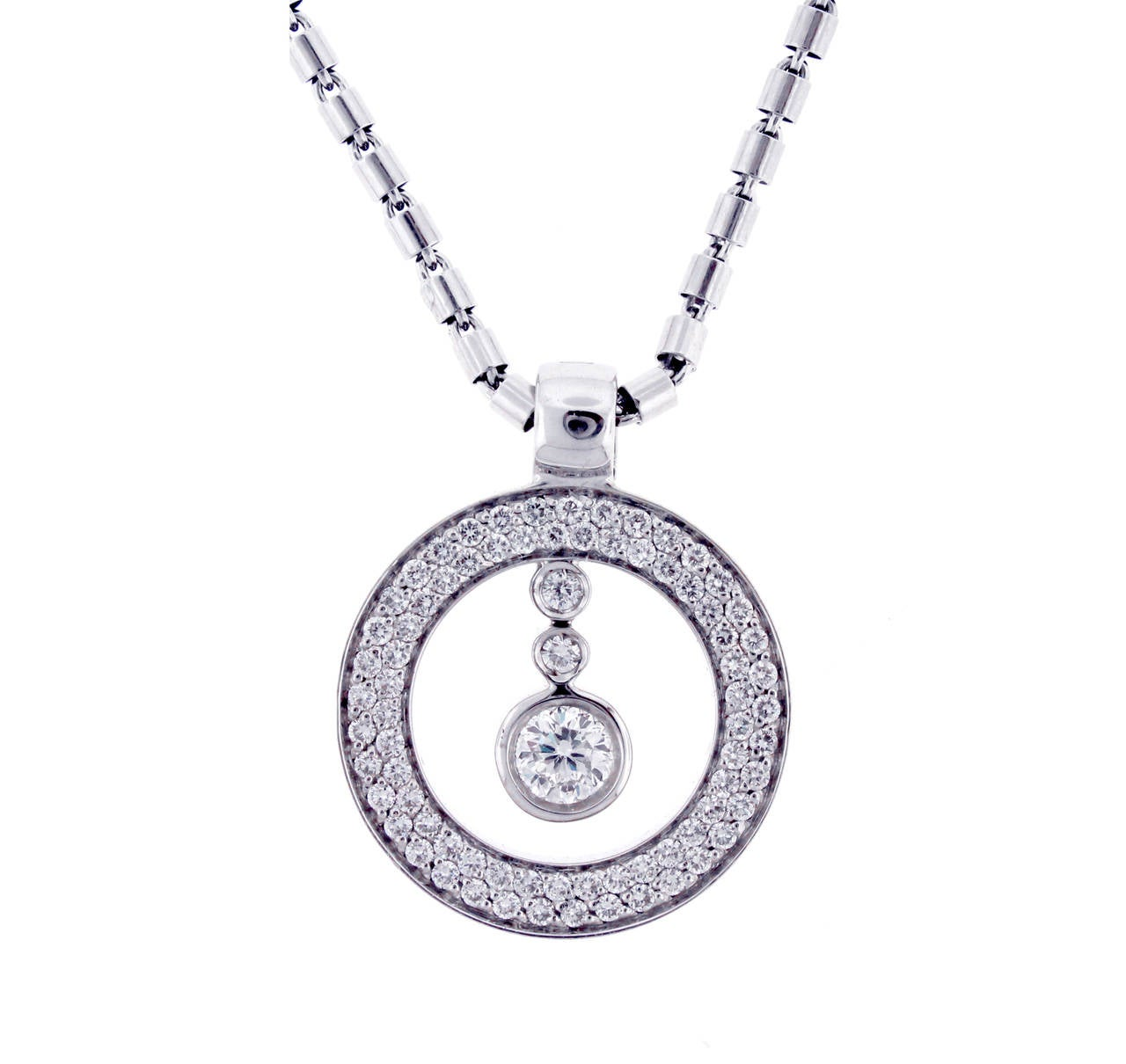 Roberto Coin Cento Diamond Gold Pendant Necklace At 1stdibs