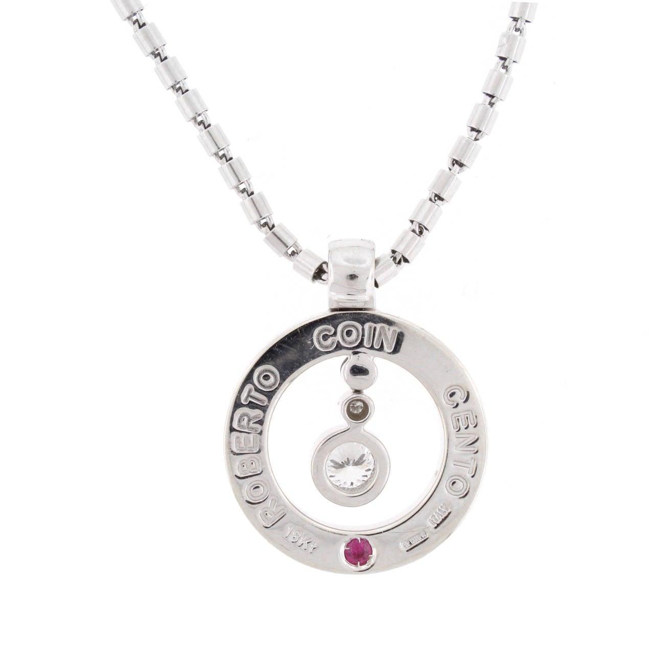 Roberto coin cento diamond gold pendant necklace at 1stdibs