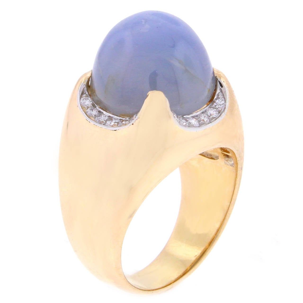 Bulgari 26 carat star sapphire diamond gold dome ring for for 26 carat diamond ring