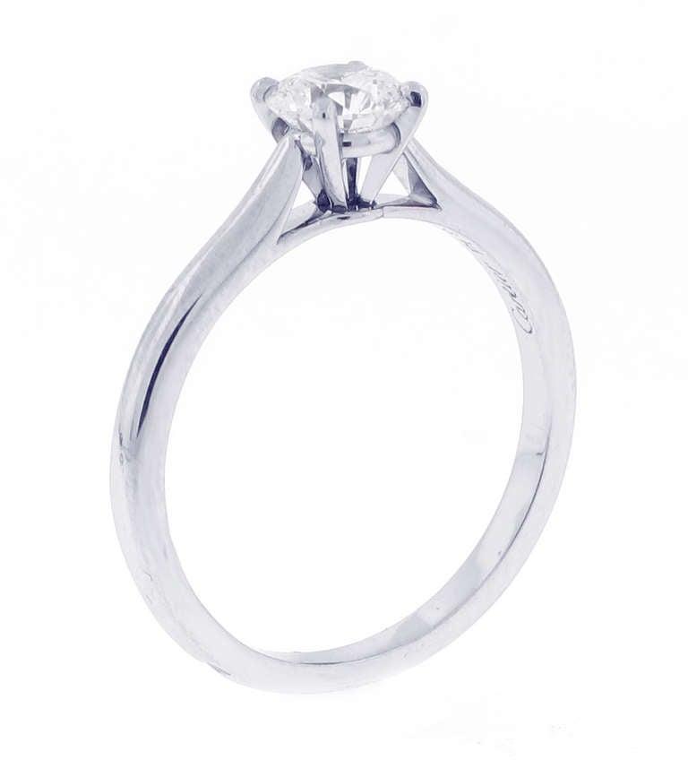 Cartier 70 Diamond Engagement Ring at 1stdibs