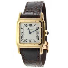 Cartier Yellow Gold Santos Dumont Manual Wind Wristwatch