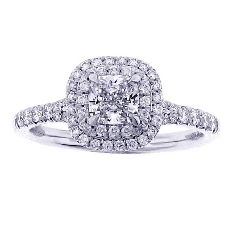 Tiffany And Co Diamond Platinum Soleste Ring 54 Carats