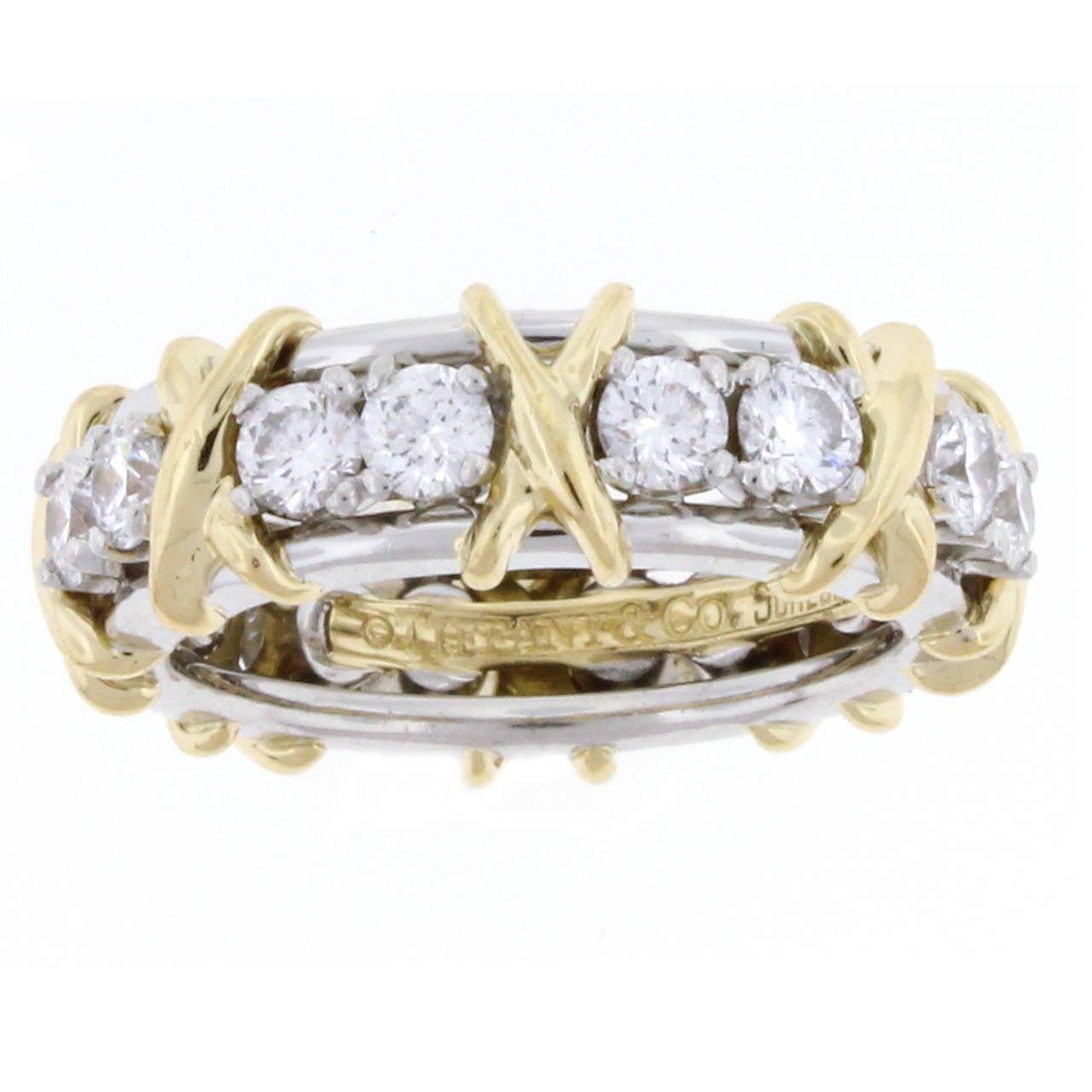 90c3b6eb3 Tiffany & Co. Schlumberger's 16 Stone Diamond Gold Platinum