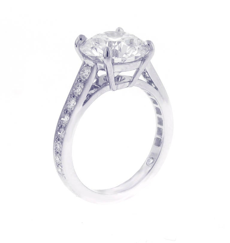 De Beers 3 76 Carat Classic Diamond Ring at 1stdibs