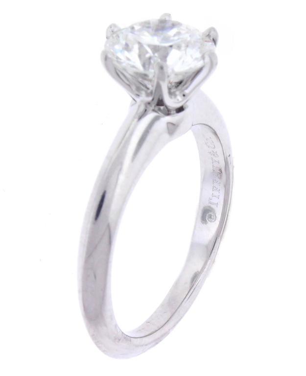 Tiffany & Co. 1.64 Carat Diamond Platinum Engagement Ring 2